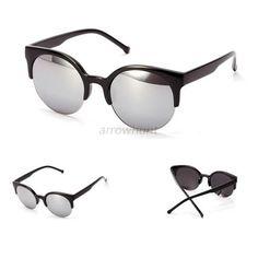 Retro Cateye Vintage Sonnenbrille Damen UV Schutz 400 Katzenaugen Pin up Sommer xeOzj74m