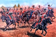 """""""Attack of the Life Guards Cossack regiment against Bavarian Chevau-Léger, September 7, 1812"""""""