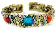 colored stone flower bracelet please visit me at www.helenhaccessories.com