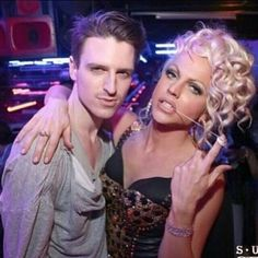 Milk (out of drag) and Courtney Act. This is a seriously attractive couple.