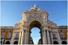 Arco Triunfal da Rua Augusta, Baixa Pombalina, Lisboa, Portugal.