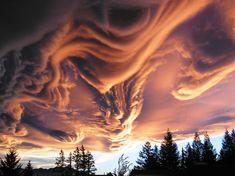 Asperatus Clouds Swirling Over New Zealand