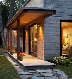 nice porch! Create nice outdoor space to open up your house.