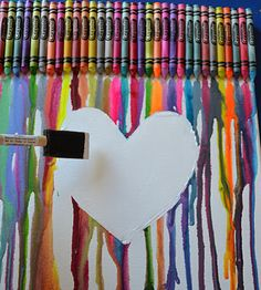 more crayon art ideas!