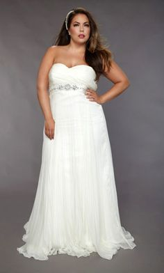 plus size wedding dress...From me...Needs a bling halter or something similar