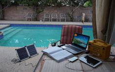 Portable Solar Power Stations: Overview of Monerator Gusto 10 and Gusto 20 Portable Solar Stations to Charge your Off-grid Life Portable Solar Power, Portable Solar Panels, Solar Energy Panels, Solar Power Station, Sun Lounger, Grid, Outdoor Decor, Life, Chaise Longue