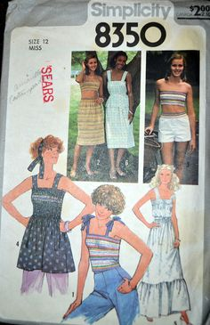 Vintage Sewing Pattern Simplicity 8350 Misses' by GoofingOffSewing  $7
