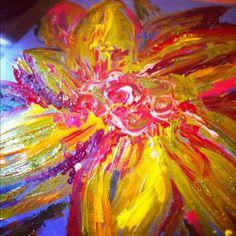 Acrylic flower painting :) Natalie Krans