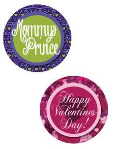 Valentines Onesie - Mommy's Prince & Happy Valentines Day - Printable - Sticker or Iron on Transfer. $1.00, via Etsy.