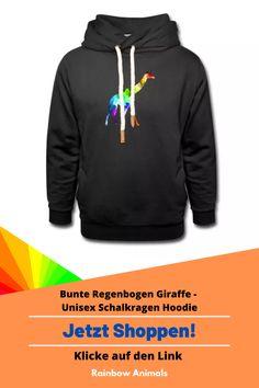 Kaufe dir jetzt diesen Schalkragen Hoodie für kuschelige Zeiten. Lass dir diese und weitere Tier-Zeichnungen auf deine Accessoires drucken. Lasse dich inspirieren   Schau jetzt in unserem Shop vorbei! Klicke jetzt auf den Link! #Hoodie #Unisex #Herrenmode #Damenmode #Stile #Spreadshirt #Giraffe #Rainbowanimals #Mode #Modeinspiration #Inspiration #Herrenstile #Damenstile #Schalkragenhoodie