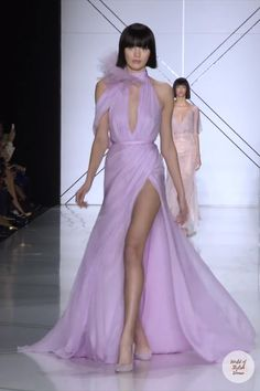 Geometric Fashion, Spring Couture, Ralph And Russo, Soft Purple, Couture Collection, Skirt Outfits, Catwalk, Evening Gowns, Runway Fashion