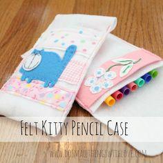 Small Things: Felt Kitty Pencil Case
