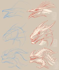 Discover recipes, home ideas, style inspiration and other ideas to try. Animal Sketches, Art Drawings Sketches, Animal Drawings, Cool Drawings, Cool Dragon Drawings, Creature Concept Art, Creature Design, Dragon Anatomy, Dragon Sketch
