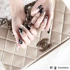 "#Repost @franklene with @repostapp ・・・ Cool nails for cool people 😎 love my new art design by @beeqnails  Quote ""Franklene's nail "" when you join membership and can get additional RM50 credit 💅🏻❤️ #nailsart #instadaily #nails #beeqnails"