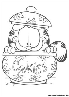 Garfield Coloring Pages Exercise 106 Preschool