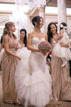 Light Gold Bridesmaid Dresses