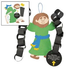 Apostle Paul in prison chains  craft for kids