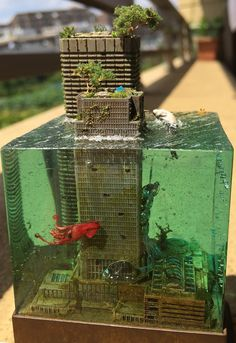 Beautiful post-apocalyptic miniatures by Masaki. Resin Crafts, Resin Art, Deco Luminaire, Deco Nature, Stop Motion, Oeuvre D'art, Amazing Art, Amazing Ideas, Awesome