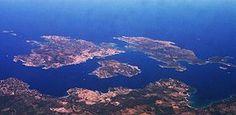 Aerial view of the archipelago