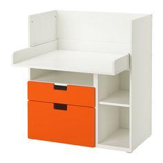 IKEA - STUVA, Trocador/secret p/criança c/2 gavs, branco/laranja,