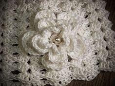 white crochet baby cap