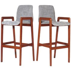 Danish Teak Barstools | From a unique collection of antique and modern stools at http://www.1stdibs.com/furniture/seating/stools/