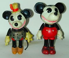 Mickey & Minnie Mouse Celluloids (1930's)