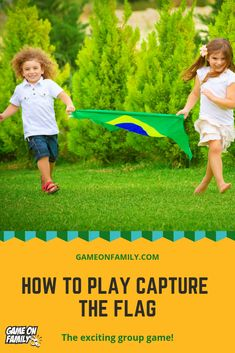 Ready to learn the rules to Capture the Flag? This group game is one of the most popular outdoor gam Outdoor Games To Play, Backyard Games, Summer Fun List, Summer Kids, Group Games, Fun Games, Party Games, Flag Game, Capture The Flag