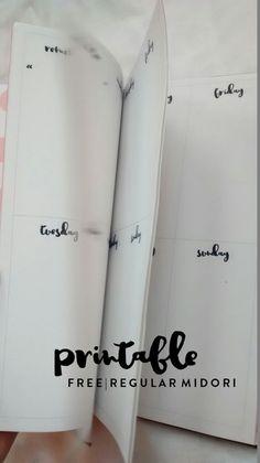 Free Midori Travelers Notebook Printable