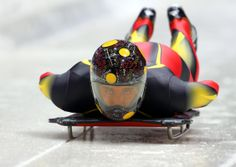 Awesome skeleton helmets of Sochi - Window to the Winter Games - Ander Mirambell of Spain makes a practice skeleton run ahead of the Sochi 2014 Winter Olympics at the Sanki Sliding Center on February 5, 2014 in Sochi, Russia. (Photo by Alex Livesey/Getty Images)