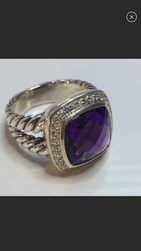 9d993145ea Used David YURMAN 14mm amethyst cable classic ring for sale in Sandy Springs  - letgo Amethyst