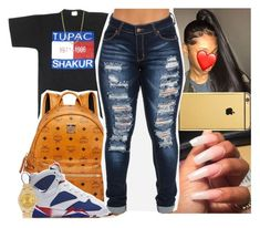 """""""Untitled #1500"""" by msixo ❤ liked on Polyvore featuring Bianca Pratt, Goldgenie, MCM, NIKE and Rolex"""