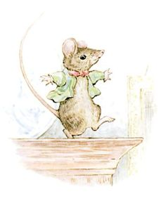 Pictures by Beatrix Potter | He has wriggled out and run away; and he is dancing a jig on the top ...
