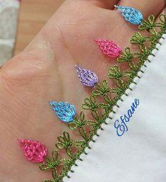 Ribbon Embroidery, Embroidery Stitches, Embroidery Designs, Saree Kuchu Designs, Knitting Patterns, Crochet Patterns, Crazy Quilt Stitches, Thread Art, Tatting Lace