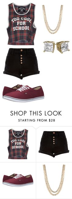 """""""Kind Of Plain But Hey #17"""" by jaycutie2-1 ❤ liked on Polyvore featuring Filles à papa, River Island, Vans and BaubleBar"""