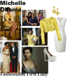 """""""Michelle Obama Fashionable First Lady"""" by stylezbyjazze on Polyvore"""
