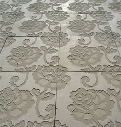 Lace Embossed Concrete Tiles | PRODUCT DESIGN PROJECT - Industrial Design and young designers Furniture