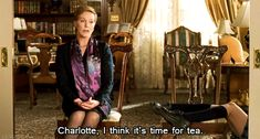 Tea with   Julie Andrews   is the stress relief that everyone needs during   princess lessons  .