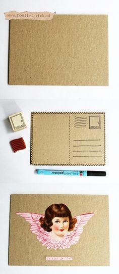Go recycle! Enkele kaart van achterkant schrijfblok