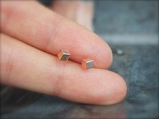 plain cube studs