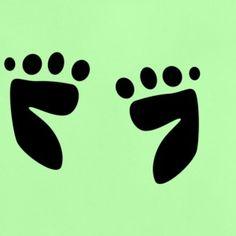 """Fußabdrücke"" Babys, Kinder, Füße, Fun, T-Shirt"