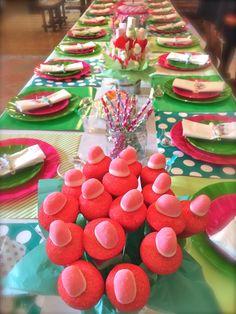 Ideas para decorar la mesa en una fiesta de #cupcakes