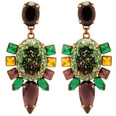 Olive bohemia earrings | Mouton Collet