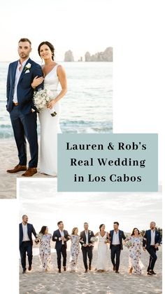 Destination wedding inspiration from Lauren and Rob's Real Wedding in Los Cabos!