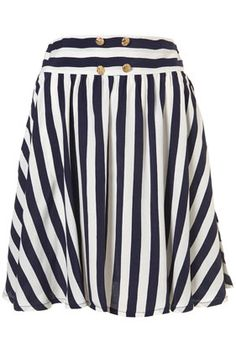 nautical, vertical stripes! Love it : )  reminds me of an outfit I had in 1959
