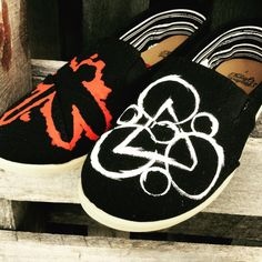 Custom painted coheed and cambria shoes