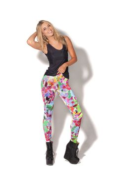 (m) A Pretty Orchid Situation Leggings - LIMITED by Black Milk Clothing