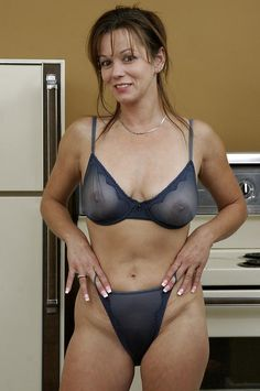 Sheer bra nude mature