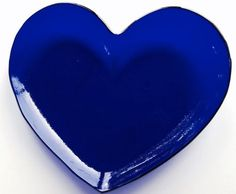 This dish measures 6 x 5.5 x .5 and only comes in cobalt blue. The heart shape is perfect for anything from whimsical centerpiece to a jewelry