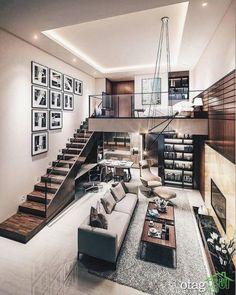30 Brilliant Loft Bedroom Decor Ideas and Designs - Page 4 of 10 - Patio Interior, Luxury Homes Interior, Modern Interior Design, Modern Apartment Decor, Apartment Interior, Apartment Goals, Apartment Ideas, Loft Bedroom Decor, Bedroom Ideas